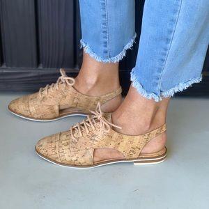 d59f087a64c Free People Shoes - Schutz Jules Cork Cut Out Slingback Oxford Flat